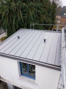 Réfection toiture en zinc